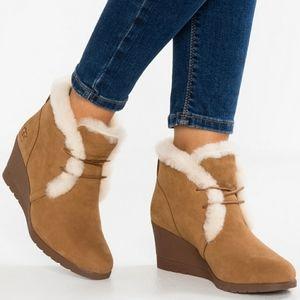 Ugg Jeovana Wedge Heel Lace Up Boot
